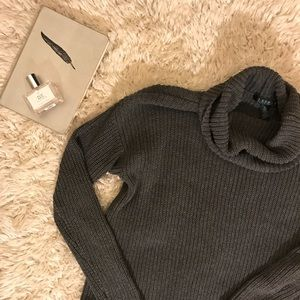 Ralph Lauren Charcoal Gray Cozy Turtleneck